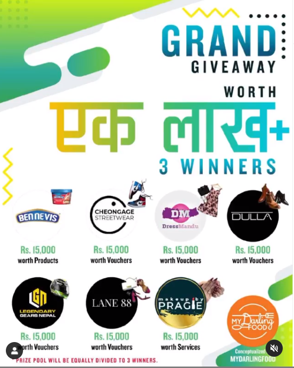 grand giveaway nepali coupons