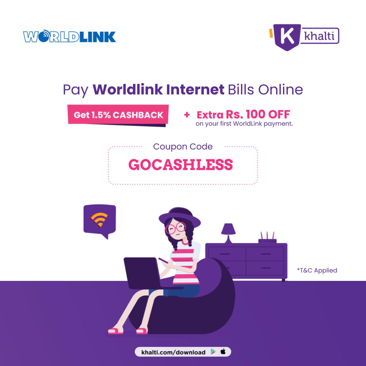 khalti worldlink payment nepali coupons