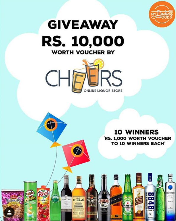 Vouchers Giveaway worth Rs1000 each for 10 Winners