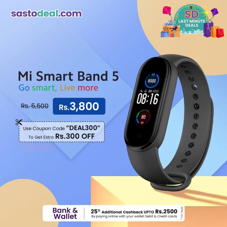Mi Band 5 Coupon | Sastodeal | Nepali Coupons