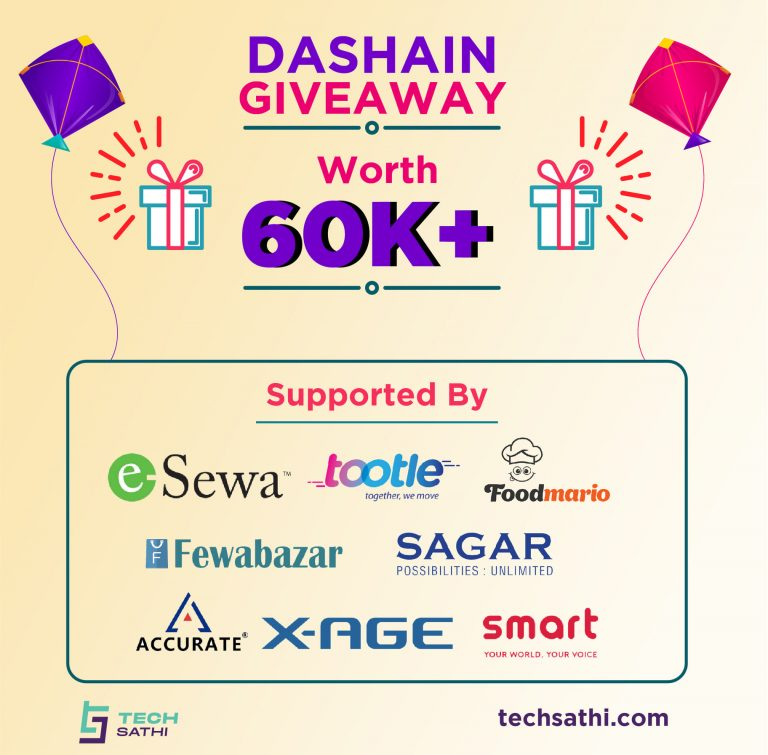 Techsathi Mega Dashain Giveaway | Giveaway Worth Rs60000