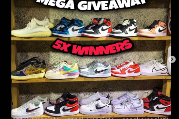 Sneakerpoints Mega Giveaway For 5 Winners