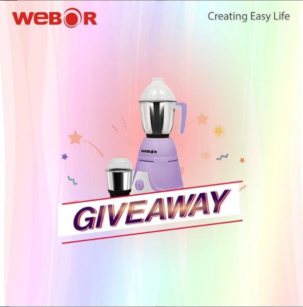 Webor Mixer and Grinder Giveaway | Nepali Coupons
