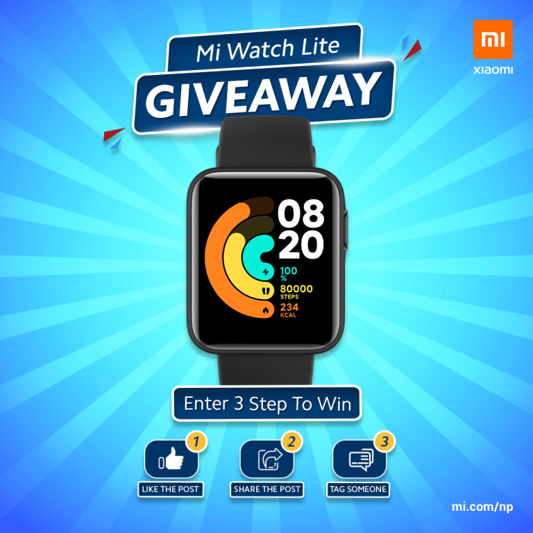 Read more about the article Mi Watch Lite Giveaway – Xiaomi Nepal