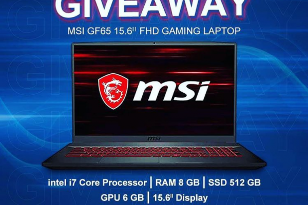MSI Gaming Laptop Giveaway for two lucky winnners
