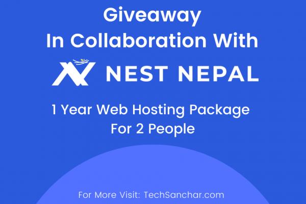 Web Hosting Giveway | Tech Sanchar and Nest Nepal